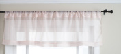 Stylemaster Elegance 150cm by 36cm Sheer Voile Valance, Pink