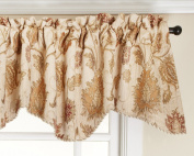 Renaissance Home Fashion Melbourne Chenille Scalloped Valance with Cording, Ivory, 130cm by 43cm