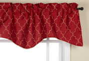Stylemaster Hudson 130cm by 43cm Embroidered Lined Valance with Cording, Crimson