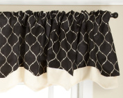 Stylemaster Bleecker 140cm by 43cm Lined Embroidered Layered Valance, Domino