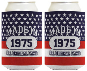 40th Birthday Gift Coolie Made 1975 Can Coolies 2 Pack Can Coolie Drink Coolers Coolies Patriotic