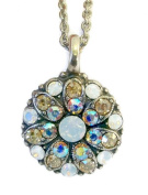 Mariana Guardian Angel White & Champagne. Crystal Pendant Necklace