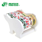 Polar Bear Multi Roll Tape Dispenser, including 4 rolls of Washi Tape(1.5cm X 10 Yards each) 2.5cm Core