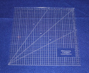 Square Ruler 23cm . - Clear Acrylic - Quilting/sewing/embroidery - Template 0.3cm
