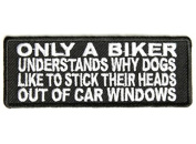 ONLY A BIKER UNDERSTANDS Embroidered Funny Biker Saying Patch Vest Jacket Emblem Motorcycle