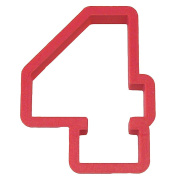 Number Four Cookie Cutter 10cm