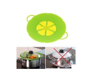 Cooking Tools Flower Silicone lid Spill Stopper Silicone Lid Cover For Pan 25cm