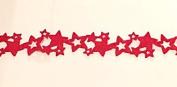 Red Christmas Stars Seasonal Table Runner