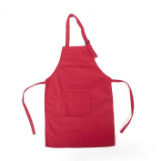 Opromo Colourful Cotton Canvas Kids Aprons with Pocket, Artist Apron & Chef Apron