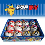 Pokemon Monster Ball Included Spinning Top Toy & Coin Bank : 9pcs