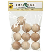 Darice 9119-49 Big Value Unfinished Wood Round Ball, Natural, 3.8cm , Pack of 10 Model