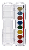 Prang Washable Watercolour Set, 8 Metallic Colours with Brush, Assorted Colours (80516) Model
