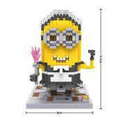 LOZ Despicable Me 2015 Cosplay Maid Minion Stuart Diamond Blocks Nanoblock 600PCS