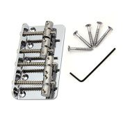 1pc* Chrome 4 String Vintage Bass Bridge 19mm String Space for Bass Guitar Parts Replacement