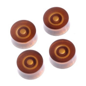 4pcs Speed Control Knobs (Brown) for Electric Guitar Parts Replacement