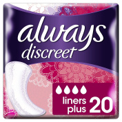 Always Discreet Incontinence Liners Plus, 20 Liners