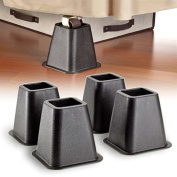 Simplify 6.25 sq.in x 15cm Black Bed Risers,4-pack