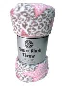 Cosy Fleece Cosy Plush Throw Blanket, 130cm by 150cm , Leopard Star