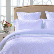 Fern Crystal Quilted Pillow Sham By Calla Angel, Standard, White