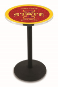L214 - 110cm Black Wrinkle Iowa State Pub Table by Holland Bar Stool Co.