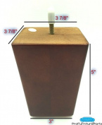 ProFurnitureParts 13cm Inch Walnut Finish Square Tapered Pyramid Wood Sofa Legs Set of 4