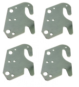 Universal Wood Bed Rail Hook Plates - Set of 4