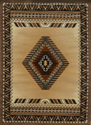 Rugs 4 Less Collection Southwest Native American Indian Area Rug Design R4L 143 Beige / Berber