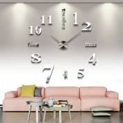 Reliable_E® Large Mirror Wall Clock Modern Desgin for Home Decor