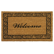"Rubber-Cal ""Estate Style Welcome Doormat"" Coco Coir Mats, 60cm x 140cm"