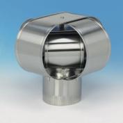 Homesaver 14906 15cm HomeSaver Windbeater Stainless Steel Cap 24-ga.