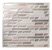 Tic Tac Tile - High Quality Mosaic Peel and Stick Wall Tile in Random Brick Metal Sand