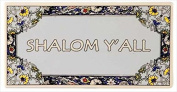 Tile-Shalom Y'All Rectangle-Flower Border