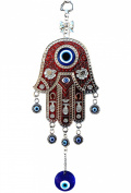 Red Hamsa Evil Eye Protection Almulet Hanging