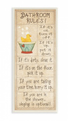 The Stupell Home Decor Collection Bathroom Rules Rubber Ducky Tall Rectangle Bath Wall Plaque