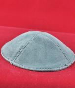 Kippah Dark grey leather cap
