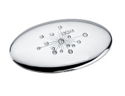 Oval Compact Mirror with Crystal Jewels