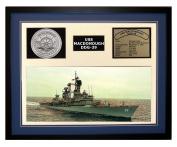Navy Emporium USS Macdonough DDG 39 Framed Navy Ship Display Blue