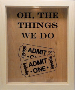 Wooden Shadow Box Wine Cork/Bottle Cap Holder 23cm x 28cm - Oh The Things We Do With Tickets
