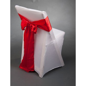 Red Satin Chair Sash Package of 10