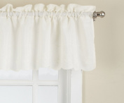 Lorraine Home Fashions Candlewick Tailored Valance, 150cm by 30cm , Cream
