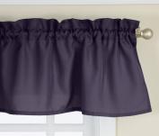 Lorraine Home Fashions Ribcord Valance, 140cm x 30cm , Navy