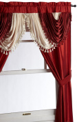 Regal Home Collections Amore 140cm by 210cm Window Set with Attached Valance, Brick