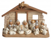 12 Piece 10cm Kids Resin Stone Full Christmas Nativity Set