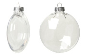 """Creative Hobbies® Clear Plastic Ornament Discs 80 mm (3.15"""") Diameter - Pack of 12 - Great for Crafts!"""