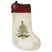 Spode Christmas Tree Embroidered Stocking
