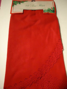 120cm Round Christmas Tree Skirts Red with Cutted edge /By Nantucket