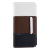 CREECITY PU Leather Wallet Type Magnet Design Flip Case for Apple iPhone 6 Plus ,Classical and Luxurious iPhone 6 Plus( 14cm ) Case- Brown