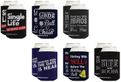 Funny Beer Coolie Bachelor Party Coolie Gift Bundle Gag Gift Wedding Party 12 Pack Can Coolie Drink Coolers Coolies Multi