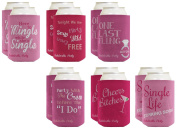 Funny Beer Coolie Bachelorette Party Coolie Gift Bundle Gag Gift Wedding Party 12 Pack Can Coolie Drink Coolers Coolies Multi