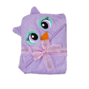 Extra Large 100cm x 80cm Hooded Towel, Purple Owl, Frenchie Mini Couture